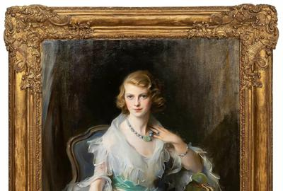 Portrait of Oonagh Guinness (1910-1995), the Anglo-Irish socialite, society hostess and art collector, by Philip de Laszlo (Austro-Hungarian, 1869-1937) (est.  $30,000-$60,000).