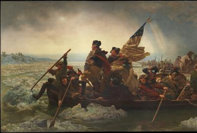 Emanuel Leutze, Washington Crossing the Delaware, 1851.