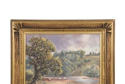 There were four oil on board paintings in the auction by the Canadian artist Homer Ransford Watson (1855-1936).  They sold for prices ranging from CA$3,835 to CA$4,425.