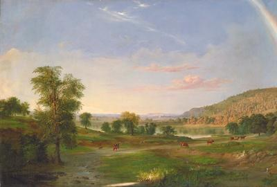Landscape with Rainbow by Robert S.  Duncanson.
