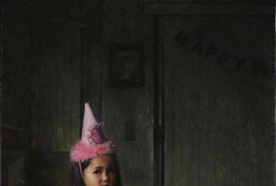 One of the works included in the exhibition, Birthday Girl by Matt Duckett, shows his daughter after her birthday during quarantine.