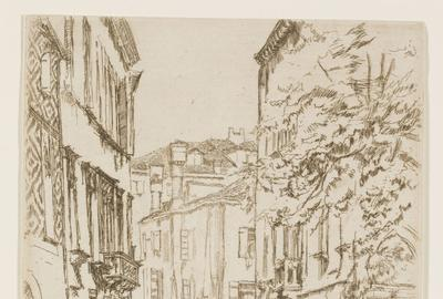 James Abbott McNeill Whistler, American (1834-1903), Quiet Canal, 1879-80, Etching and drypoint, 8 7/8 x 6 inches