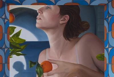 Laura Krifka, Unreachable Spring, 2020, oil on canvas, 36 x 24 in.