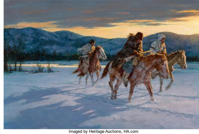 Against the Cold Maker by Howard A.  Terpning sold for $585,000.