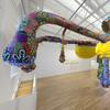 Joana Vasconcelos, Valkyrie Mumbet, installation view at MassArt Art Museum (MAAM).  Photo by Will Howcroft, courtesy of MassArt Art Museum.