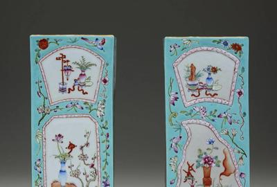 This pair of late 19th/early 20th century Chinese vases with botanical artwork and auspicious Buddhist symbols against a turquoise ground sold for $5,200 (including buyer's premium) in Freeman's April 7, 2020 auction.  The first-time purchase made by a new bidder through LiveAuctioneers will generate a charitable donation.