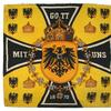 World War I-era personal automobile standard of Prussian Kaiser Wilhelm II, plus three other official fender flags, from the Kaiser's meeting with his Austrian counterpart (MB: $10,000).
