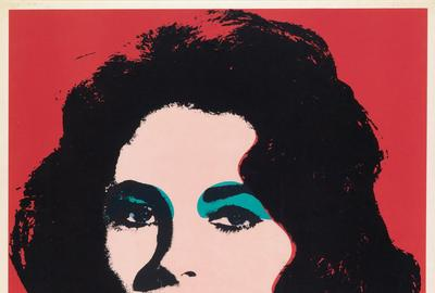 Andy Warhol, Liz, offset color lithograph, 1964.  At auction November 15.  Estimate $30,000 to $50,000.
