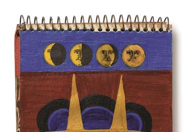 Betye Saar (American, b.  1926), Sketchbook 1970-72.  acrylic, ink and watercolor on paper.  6 ¼ x 4 in.  Collection of Betye Saar, courtesy of the artist and Roberts Projects, Los Angeles, CA.  EX.8646.2