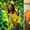 """Hunter's Watch,"" the featured artwork for the Jackson Hole Fall Arts Festival, was created by renowned fine artist and illustrator Thomas Blackshear (Blackshear photo: Broadmoor Galleries)."