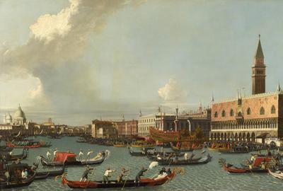 Painting by follower of Giovanni Antonio Canal, called Canaletto (Italian, 1697-1768)