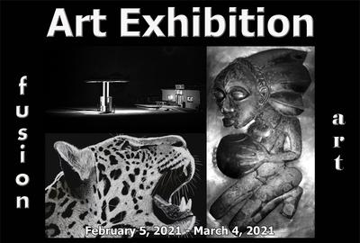 Fusion Art Announces the Winners of the 5th Annual Black & White Art Exhibition www.fusionartpsc.om