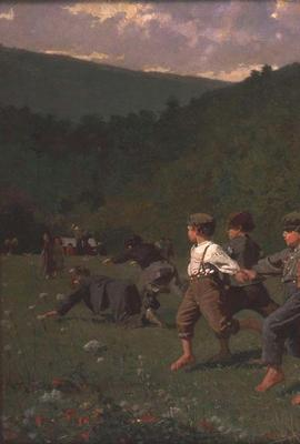 Winslow Homer (1836-1910) Snap The Whip, 1872.  Oil on canvas, 22 x 36 in.