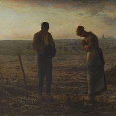 "Jean-François Millet, French, 1814–1875; ""The Angelus"", 1857-1859; oil on canvas; 21 7/8 x 26 inches; Musee d'Orsay, Paris, France 2020.28; Photo: Patrice Schmidt, © RMN-Grand Palais / Art Resource, NY"