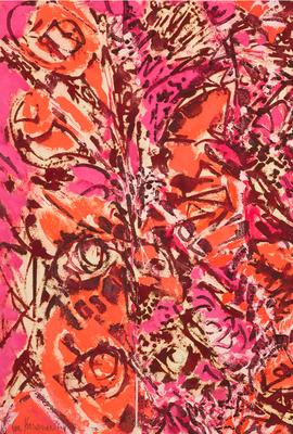 Lee Krasner, Icarus, 1964.  Thomson Family Collection, New York © The Pollock-Krasner Foundation.