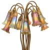 "Tiffany Studios 12-light ""Lily"" table lamp ($30/50,000), circa 1910."