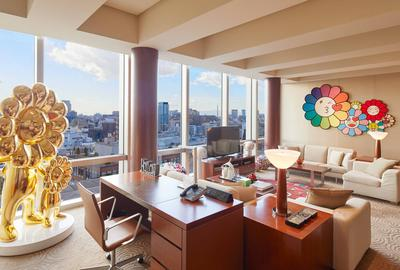 Grand Hyatt Tokyo.  ©︎2021 Takashi Murakami/Kaikai Kiki Co., Ltd.  All Rights Reserved.