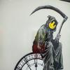 Taken from the recent release of NFTs by ARTCELS Banksy's Grin Reaper, Screenprint in colours on wove paper, Signed and dated (2005)
