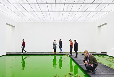 Olafur Eliasson, Life, 2021.  Installation view: Fondation Beyeler, Riehen/Basel, 2021.  Courtesy of the artist; neugerriemschneider, Berlin; Tanya Bonakdar Gallery, New York / Los Angeles © 2021 Olafur Eliasson Photo: Mark Niedermann
