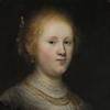 Rembrandt van Rijn (Dutch, 1606–1669), Portrait of a Young Woman (detail), 1632, oil on panel.  Allentown Art Museum: Samuel H.  Kress Collection, 1961.  (1961.35)