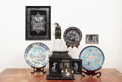 The April 17th auction features Rare Enamels from Collection of Lucy & Stanley Lopata including French Limoges examples ranging in period from the Renaissance to Napoleon III, as well as Chinese examples with many from the Qianlong era.