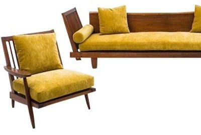 George Nakashima, Unique Suite of Black Walnut Furniture including Sofa and Pair of Low Chairs, USA, 1952, Estimate $150,000-175,000