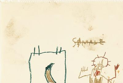 Jean-Michel Basquiat Untitled (Starvation), 1981 Estimate: $250,000 - 350,000
