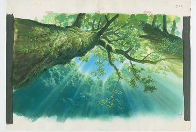 Background, Princess Mononoke (1997), © 1997 Studio Ghibli - ND