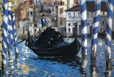 "Edouard Manet's work ""The Grand Canal — Venice (Blue Venice),"" from 1875 is featured in the ""Color"" section of the online exhibition ""Color, Pattern, Whimsy, & Scale"" at Shelburne Museum."