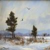"""Two Crows"" by William R.  Davis, estimated at $600/800, in Eldred's Cabin Fever Auction on January 21-22."