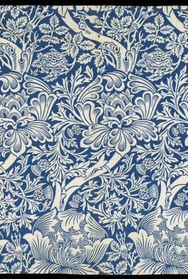 Rose and Thistle, furnishing fabric, William Morris, 1881, England.  Museum no.  T.634-1919.  © Victoria and Albert Museum, London