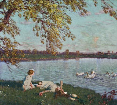 Edward Dufner, Youth and Sunshine, 1916