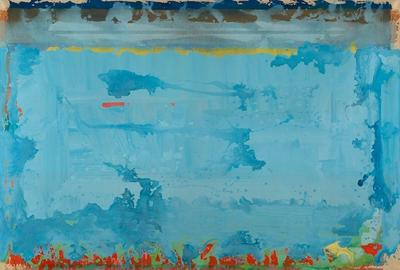 Edwin Ruda (b.  1922), Gwerene, 1972, Acrylic on canvas, 60 x 84 inches