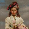 JOHN GEORGE BROWN (American, 1831-1913), The Flower Girl, 1878, oil on canvas, signed and dated, 30 x 22 inches, Estimate: $70,000-100,000.