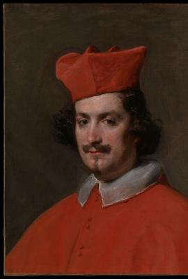 Diego Velázquez (1599-1660), Camilo Astalli, known as Cardinal Pamphili, Rome, Italy, 1650-1651, oil on canvas, H 61 x W 48 cm., Hispanic Society Museum & Library, New York.