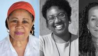 Jamaica Kincaid, Rosana Paulino (Photo: Celso Andrade), and Cheryl Finley (Photo: Gediyon Kifle)