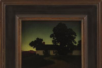 """Evening, Cornish, N.H."" by Maxfield Parrish, part of Eldred's Summer Sale."