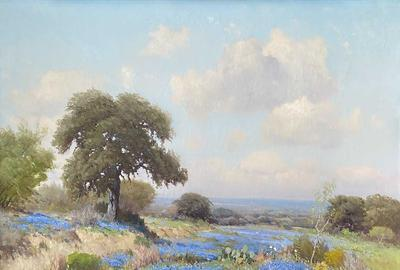 Porfirio Salinas (1910-1973), Hill Country Bluebonnets, 1941, oil on canvas, 36 x 44, Estimate: $50,000-$75,000