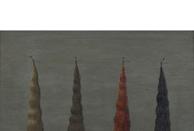 LOT 1: Gertrude Abercrombie, 4 Ladies Switches #2, 1951.  Estimate $6,000-8,000