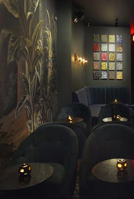 Interior of Sugar Monk Cocktail Salon