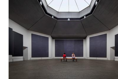 Rothko Chapel interior and new skylight.  © Elizabeth Felicella.  Courtesy Rothko Chapel.