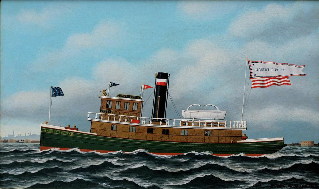 Tugboat Robert A.  Petty by Antonio Jacobsen (1850-1921)