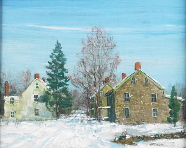 Lot 75, Walter Emerson Baum (American, 1884-1956), Untitled, Oil on Masonite, Sold for $5,313, Fine Art, November 2013.