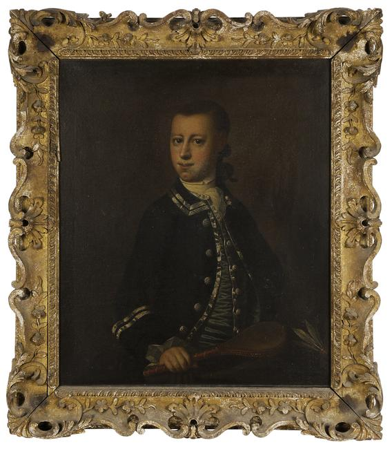 Jeremiah Theus (Charleston, South Carolina/Swiss, 1719-1774) Young William Branford (1756-1776), circa 1765