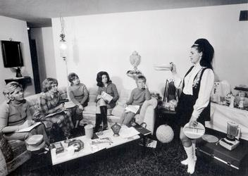 Bill Owens, I enjoy giving a Tupperware party in my house, 1971