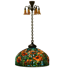 The top lot of the auction was this Tiffany Studios Oriental Poppy chandelier that drew multiple online and phone bids before finishing up at $665,500.