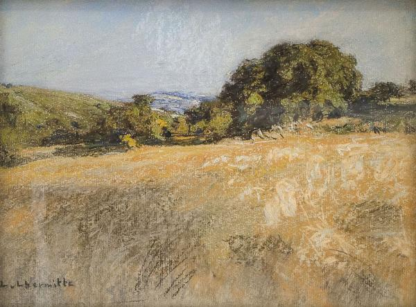 Pastel by Leon Augustin L'Hermitte (France, 1844-1925), headline lot in Eldred's Fine & Decorative Art auction.