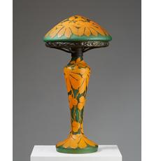 Modernity Stockholm at Masterpiece London 2019 is showing a table lamp designed by Axel Enoch Boman for Orrefors, Sweden, 1915.