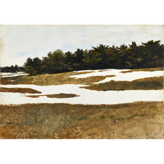 Lot 120, Andrew Wyeth (American, 1917-2009), Hill Drifts, 1971, Watercolor on paper, $80,000-$120,000.