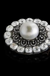 Largest Known Near-Round Natural White Saltwater Pearl, The Putilov Pearl Brooch, Estimate $100,000+